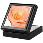 Peach Rose Keepsake Box