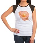 Peach Rose Women's Cap Sleeve T-Shirt