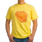 Peach Rose Yellow T-Shirt