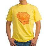 Peach Rose Yellow T-Shirt