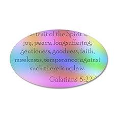 Galatians 5:22-23 35x21 Oval Wall Decal