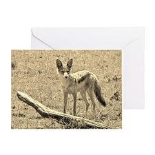 Scopey Jackal Sepia Greeting Card