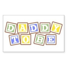Daddy To Be Rectangle Decal