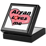 aryan loves me Keepsake Box