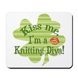 Kiss me, ...Knitting Diva Mousepad