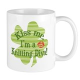 Kiss me, ...Knitting Diva Mug