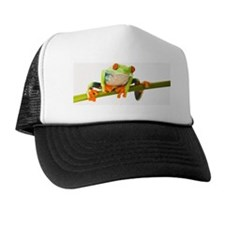 Tree frog on stem Trucker Hat