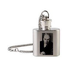 Portrait of Niels Bohr Flask Necklace