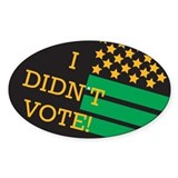 I Didn't Vote sticker