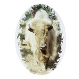 SACRED WHITE BUFFALO Oval Ornament