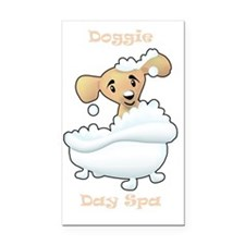 Diggie Day Spa Rectangle Car Magnet