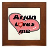 arjun loves me  Framed Tile