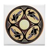 MIMBRES FOUR GRASSHOPPERS BOWL DESIGN Tile Coaster