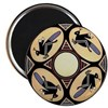 MIMBRES FOUR GRASSHOPPERS BOWL DESIGN Magnet