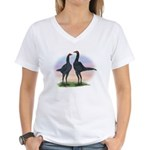 Blue Moderns2 Women's V-Neck T-Shirt