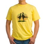 Blue Moderns2 Yellow T-Shirt