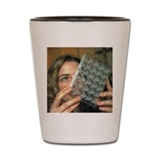 Protein crystal growth plate Shot Glass
