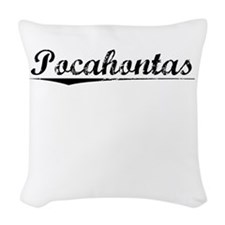 Pocahontas, Vintage Woven Throw Pillow