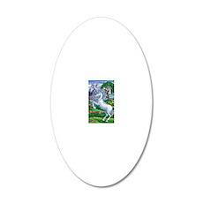 Unicorn Kingdom 16x20 20x12 Oval Wall Decal