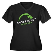 Snot Rocket Research Women's Plus Size V-Neck Dark