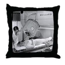 Radiotherapy machine, 1967 Throw Pillow