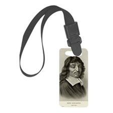 Rene Descartes, French mathemati Luggage Tag