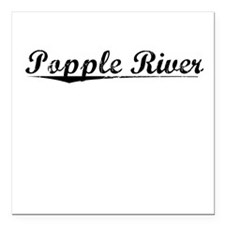 "Popple River, Vintage Square Car Magnet 3"" x 3"""