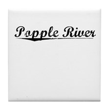 Popple River, Vintage Tile Coaster