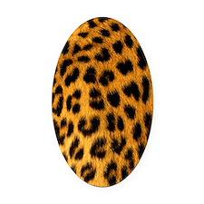Jaguar Fur Oval Car Magnet
