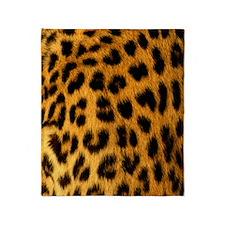 Jaguar Fur Throw Blanket