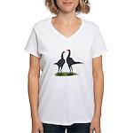 Blue Modern Games Women's V-Neck T-Shirt