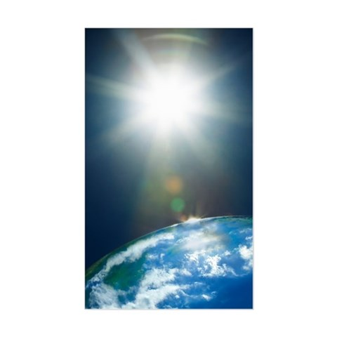 Sun glare over the earth in sp Decal
