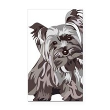 Neutral Yorkie Rectangle Car Magnet