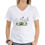 White d'Uccle Bantams Women's V-Neck T-Shirt
