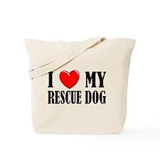 Love My Rescue Dog Tote Bag