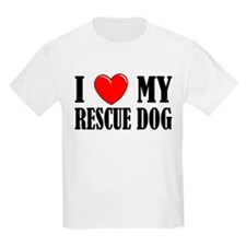 Love My Rescue Dog Kids T-Shirt