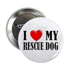 Love My Rescue Dog Button