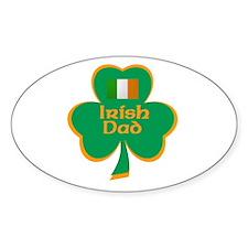 Irish Dad Oval Decal