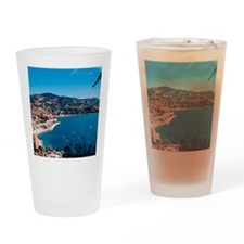 A charming coastal town of the Fren Drinking Glass