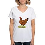 Red Hen Women's V-Neck T-Shirt