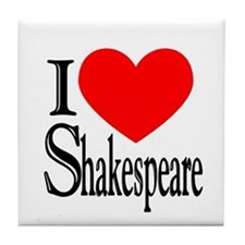 I Love Shakespeare Tile Coaster