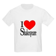 I Love Shakespeare Kids T-Shirt