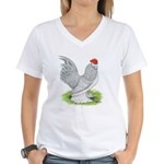 Self Blue Rooster Women's V-Neck T-Shirt