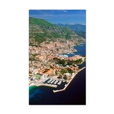 Aerial view of a city, Monte  Rectangle Car Magnet