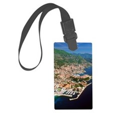 Aerial view of a city, Monte Car Luggage Tag