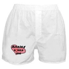ansley loves me  Boxer Shorts