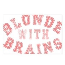 Blonde with Brains Postcards (Package of 8)