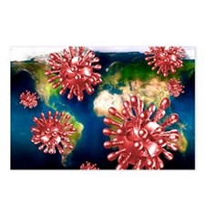 SARS virus Postcards (Package of 8)