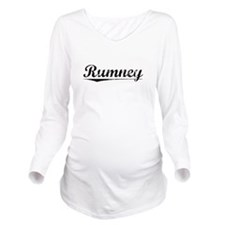 Rumney, Vintage Long Sleeve Maternity T-Shirt