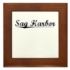 Sag Harbor, Vintage Framed Tile